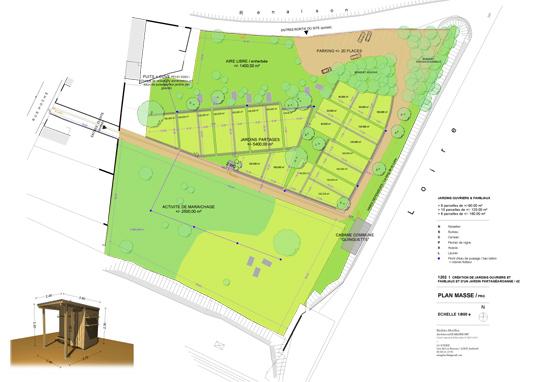 Plans jardins et cabanes for Banes planning